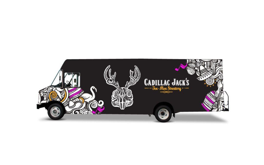 Cadillac Jack's Vehicle Wrap Design