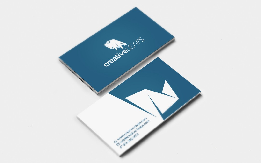 Creative Leaps business cards