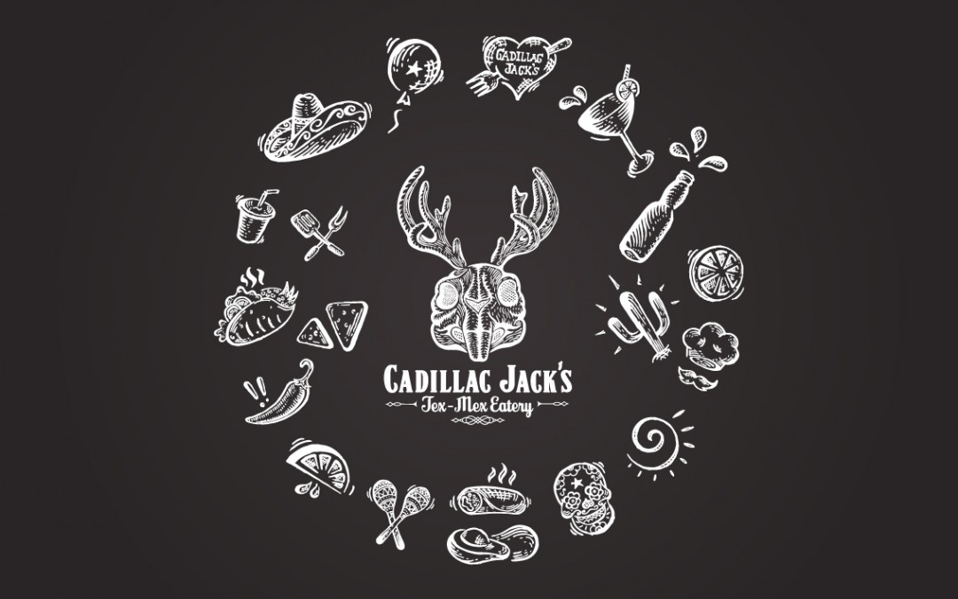 Illustrated Icon Set for Cadillac Jack's